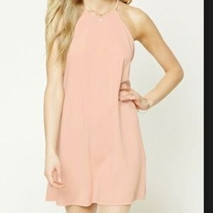Forever 21 High Neck Halter Swing Mini Dress